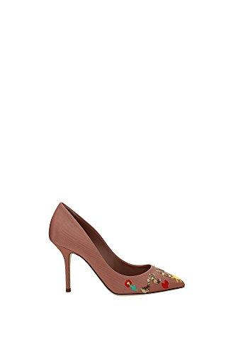 CD0246AL8778L460 Dolce&Gabbana Talon Femme Tissu Rose Rose