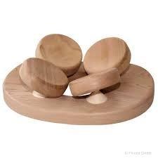 SudoreWell® Sauna Kopfstütze mit 4-Punkt Kopfauflage aus Red Cedar Holz + gratis 10g Mentholkristalle (Vier-punkt-hängematte)