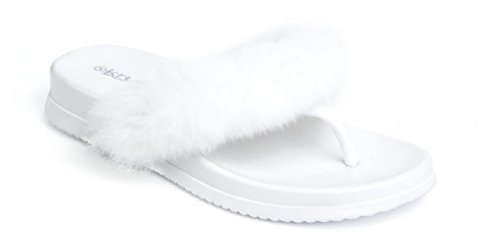 Koo-T , Damen Zehentrenner Weiß