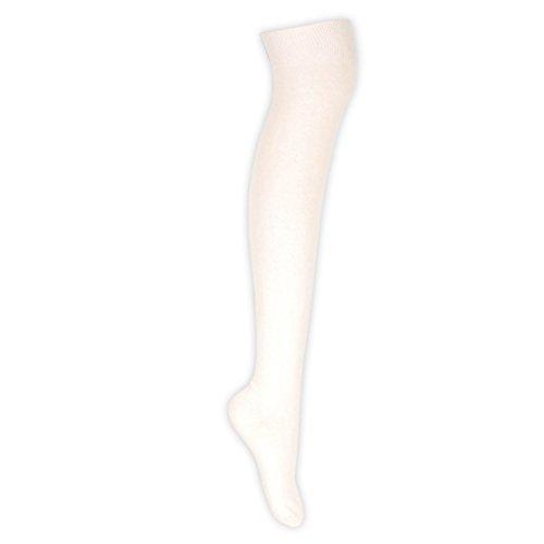 Kostüm Pour Femme - adam & eesa Bas en coton uni pour femmes sur le genou Bas 28 couleurs Uk Taille 4-6½