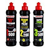 Menzerna Heavy Cut Compound 1000, 250ml & Medium Cut Polish 2200, 250ml & Super Finish 3500, 250ml