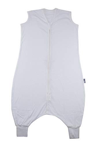 Schlummersack Schlafsack mit Füßen ungefüttert aus Bambus-Baumwolle für den Sommer in 0.5 Tog - Créme - 5-6 Jahre/120 cm