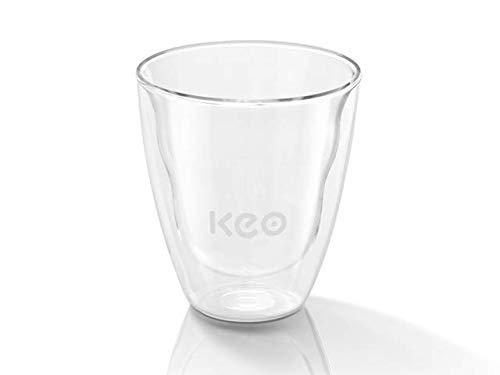 KEO doppelwandiges Teeglas Teachamp-Glas 340 ml aus hochwertigem Borosilikatglas in Gastronomiequalität