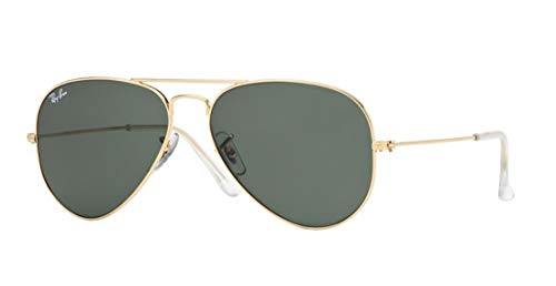 Ray-Ban RB 3025 Aviator Gunmetal w/ Gray Green (G15) Lens 55-14-135