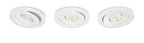 Philips myLiving LED Einbauspot Asterope 3er Set Metall 4.5 W Weiß 591833116