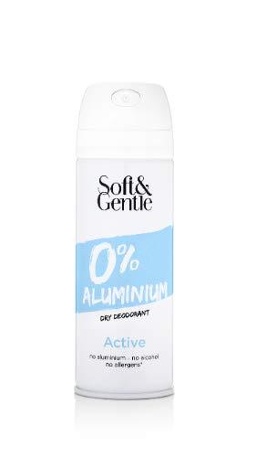 Doux et doux en aluminium Active Déodorant anti-transpirant, 150 ml