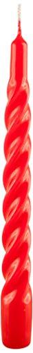 Cereria di Giorgio risthò Kerzen TORTIGLIONE lackiert, Wachs, Rot, 2.2x 2.2x 21cm, 3Einheiten