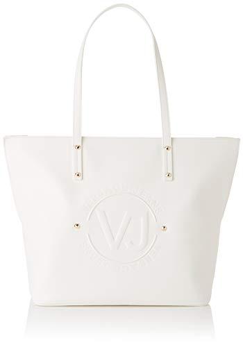 Versace Jeans Couture Damen Bag schultertasche, Weiß (Bianco Ottico), 14x29x42 centimeters