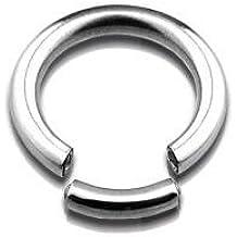 Tener la oreja acero quirúrgico Boutique segmento anillo nariz/ceja/O para el labio - 1,2 mm (16 G) x 8 mm de diámetro