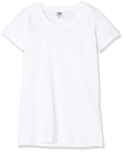 Fruit of the loom valueweight 5 pack, t-shirt donna, bianco (white 30), s