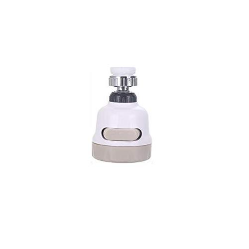 Moshbu Grifo de Agua Giratorio de 360 °, Ajuste ABS Grifo de Cabezal de pulverización Grifo de Ahorro de Agua Grifo Anti Salpicaduras Grifo Boquilla Filtro aireador difusor para Cocina baño