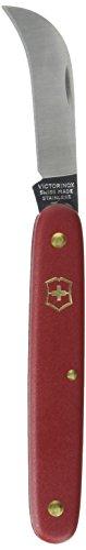 Victorinox Taschenwerkzeug Gartenmesser gebogene Klinge 51 mm rot Blister, 3.9060.B1