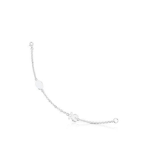 Imagen de tous pulsera cadena mujer bear en plata de primera ley, largo 17.5 centímetros