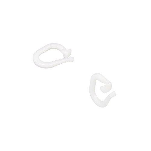 Liedeco Raffring Rafföse Raffhäkchen für Gardinen, Store | weiss | 50 Stück