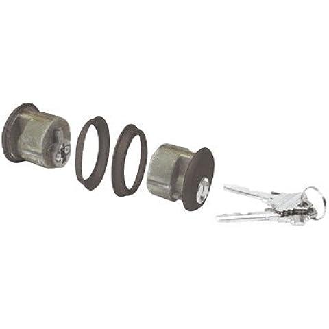 Bronce oscuro CRL doble cilindro de embutir con Schlage