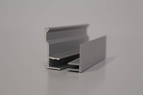 Spiegelklickprofil Befestigung für Spiegel Wandspiegel Spiegelwände bis 6 mm Stärke (2.0)
