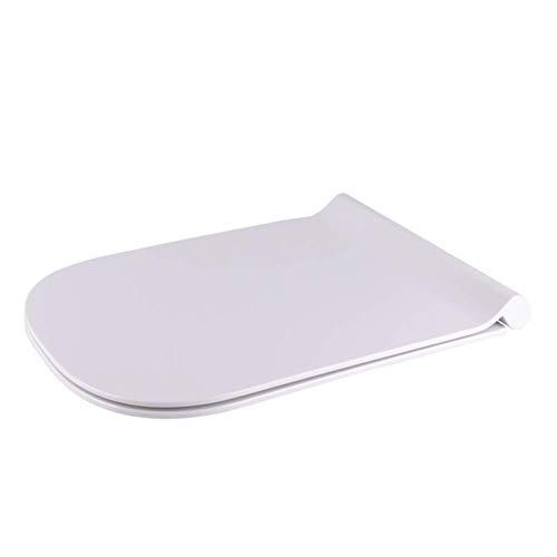 LIYANJIN Toilettendeckel , Absenkautomatik in Form eines weißen Quadrats Einfache Installation und Freigabe Schnellbefestigung Antibakterielle Schnellbefestigung mit langsam schließenden Scharnieren