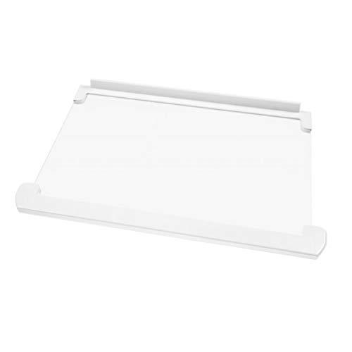 Étagère en verre avec profils Dimensions : 434 x 292 x 4 cm Pièce de rechange originale pour réfrigérateurs Ariston Indesit Hotpoint