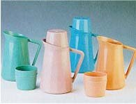 Medegen Roommates Bedside Pitcher With Cup Cover Blue No Tip