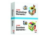 Adobe Photoshop Elements 6 plus Adobe Premiere Elements 4 - Ensemble de mise à  niveau - 1 utilisateur - DVD - Win - français