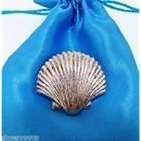 Sea Shell Finemente Realizzato artigianalmente In Peltro Solido nel Regno Unito Lapel Pin Badge