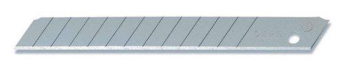 Preisvergleich Produktbild Olfa AB10S Edelstahl Klingen 10 Stück - 9mm (passend für Olfa Cuttermesser SAC und SVR)