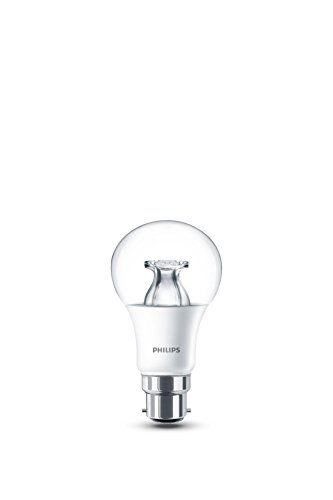 Philips LED Warm Glow B22 Bayonet Cap Dimmable Light Bulb, 8.5 W (60 W) - Warm White