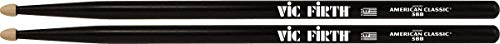 Vic Firth 5B American Hickory Wood Tip Drumstick Black Finish