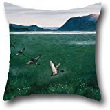 Oil Painting Theodor Kittelsen - The Twelwe Wild Ducks Pillow Cases 16 X 16 Inches / 40 By 40 Cm Best Choice For Couch,coffee House,dance Room,outdoor,bar Seat With Each