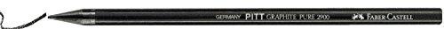 Faber Castell 2900 6B – Barra de grafito puro, 12 unidades, color negro
