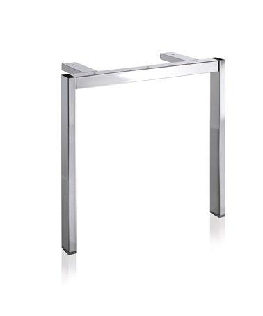 Tischgestell S9002 Edelstahl-Opt. f. Tisch B800/L800-1000mm