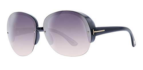 Tom Ford Damen Sunglasses FT0458 6820B Sonnenbrille, Schwarz, 68