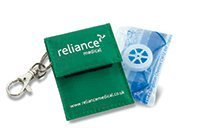 Rebreath One Way Valve In Keyring Pouch by UK First Aid Equipment