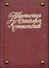 Allgemeines Deutsches Kommersbuch, Ausgabe G. Einband rot mit Nägeln