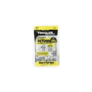 TOGGLER TH Picture Hook Anchor with Screws, Made in US, 3/8 to 1/2 Grip Range, For #6 to #14 Fastener Size (Pack of 5) by TOGGLER