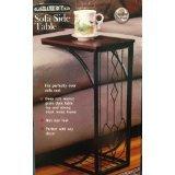 Deko Metall und Holz Sofa Seite Accent Tisch