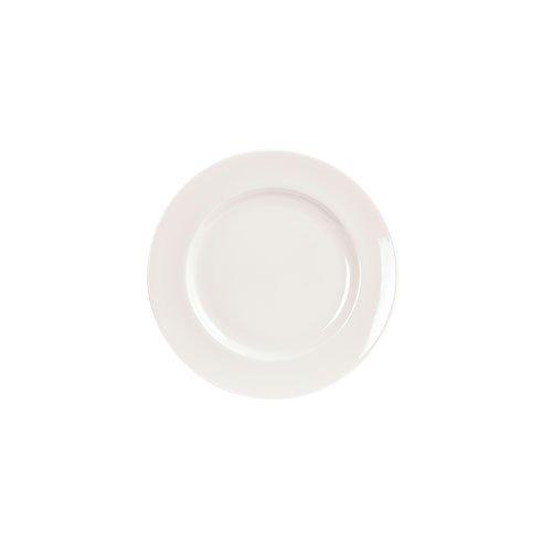 Fairmont and Main 18 cm Vitrified Porcelain Arctic Flat Rim Side Plates, Set of 4, White by Fairmont & Main White Porcelain Side Plate