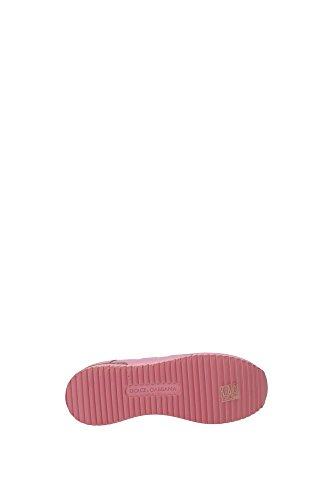 CK0003AR64680400 Dolce&Gabbana Sneakers Femme Cuir Rose Rose