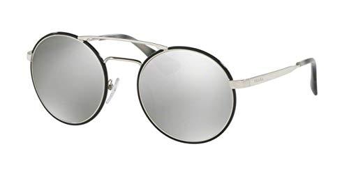 Prada Damen 0PR51SS 1AB2B0 54 Sonnenbrille, Schwarz Black/Light Grey Silver