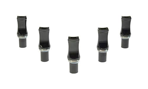 Armerah eGo CE Clearomiser Replacement Mouthpiece Flat/Plastic/Solid 5 Pack in Black