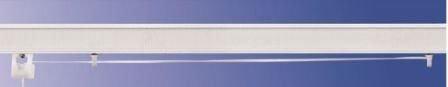 Bastone binario per tenda a pacchetto a vetro professionale tecnico in alluminio l.60 a 2 cadute