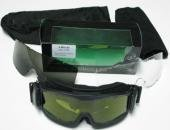 US Army Schutzbrille Sonnenbrille Armee Deluxe Arbeitsschutzbrille Skibrille Snowboardbrille Schwarz