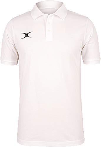 Gilbert Rugby Sport Quest Polo T-Shirt Top T-Shirt - Weiß, XXL