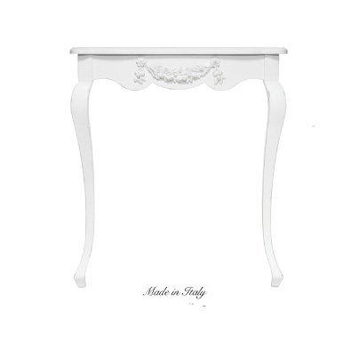 Consolle in legno stile vintage con fregio centrale disponibile in diverse rifiniture L'ARTE DI NACCHI 4983/BG