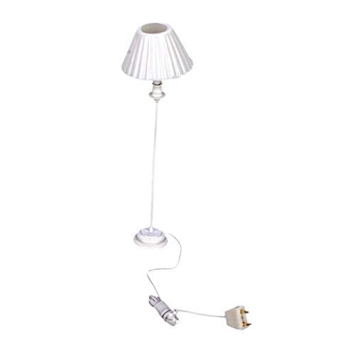 Preisvergleich Produktbild Lyanther 9-12V Muschel Schatten Miniatur Stehlampe Licht für 1:12 Puppenhaus Miniatur
