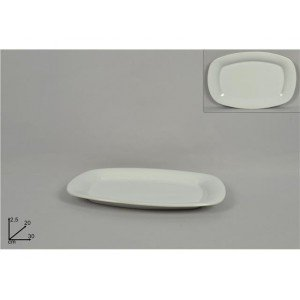A.K TRADING Assiette Blanche RECT 30 X 20 CM REF 8096 Code 2634