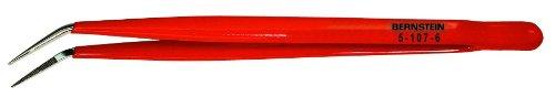 Bernstein Werkzeug GmbH 5-107-6 Mechanikerpinzette, 150 mm, abgebogene Spitzen, vernickelt- schutzisoliert -
