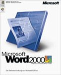 Microsoft Word 2000 CD W32 / Textverarbeitung (Vollversion) Bild