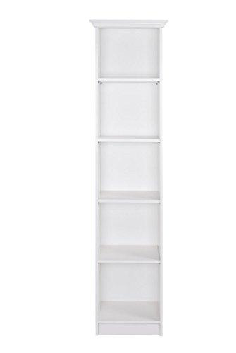 expendio Regal Landström 21 weiß 50x200x35 cm Bücherregal Standregal Wandregal Medienregal Wohnzimmer Jugendzimmer Arbeitszimmer Landhausmöbel