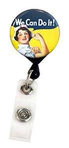 buttonsmith Retractable Badge Reel-hergestellt in den USA, 1Jahr Garantie Badge Reel with Alligator Swivel Clip Nurse Rosie